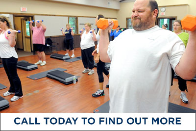 Man in fitness class