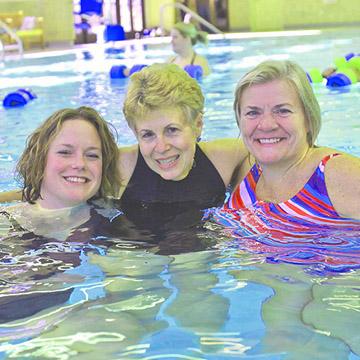 group of women in pool